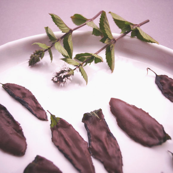 Schoko-Minzblätter